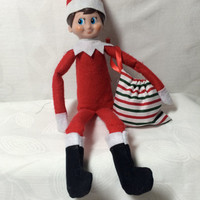 Santa boots and toy sack
