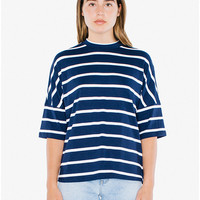 Compact Jersey Mock Neck T-Shirt | American Apparel