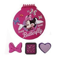"""Disney Minnie """"Bowtique"""" Notepad and Stamp Set on Blister Card"""