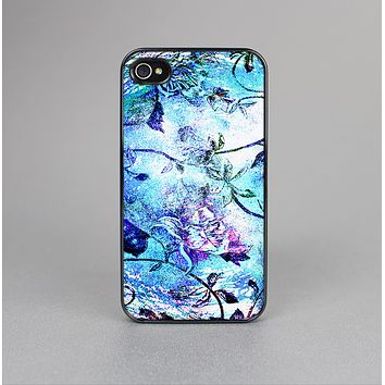 The Black & Bright Color Floral Pastel Skin-Sert for the Apple iPhone 4-4s Skin-Sert Case