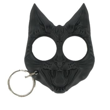 Wild Cat Self Defense Key Chain -BLACK