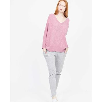 Cashmere Cable Oversized Sweater