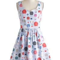 Fit & Flare Air of Adorable Dress in Balloons