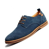 ZXQ Men's Genuine Suede Leather Business Casual Dress Shoes
