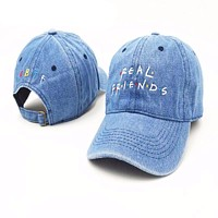 Embroidery Real Friend Baseball Cap