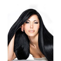 """Indian Remy Silky Straight Human Hair Extensions - Wefted Hair 10"""""""