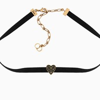 """""""Dior Or"""" choker in aged gold-tone metal and black lacquer - Dior"""