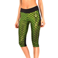 Mermaid Fitness Shorts - Green