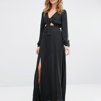 Millie Mackintosh Maxi Dress with Tie Front