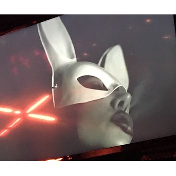 Fetish Bunny Mask Rabbit Ear Mask Men Women Party Costume Cosplay Masquerade Bar Nightclub Costume Fetish Rabbit Ear Mask