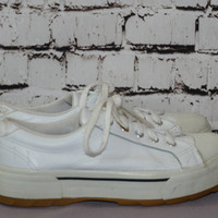 90s chunky platform Keds sneakers white ked shoes black Cyber Goth Punk Grunge boho Festival hipster pastel us 8.5 8