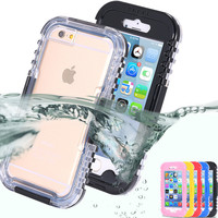 6S Plus Waterproof Transparent Crystal Clear Case For iphone 6 6S/6 Plus Swimming Diving Cellphone Hard Full Cover For iphone 6S