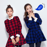 Collared Checked Dress - I know you wanna kiss me. Thank you for visiting CHUU.