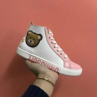 Moschino Womens Fashion High-top Sneaker