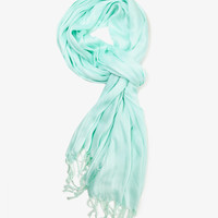 Lustrous Crinkled Scarf