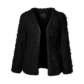 Oversized Faux Fur Coat with Pockets (CLEARANCE)