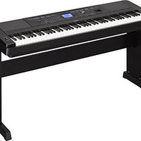 Yamaha DGX-660 88-Key Weighted Action Digital Grand Piano with Matching Stand, Black