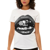 The Smile Ver 2 Tee in White