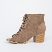 Suede Perforated Booties