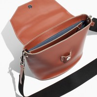 & Other Stories | White Stitch Bag | Brown Light