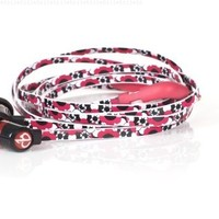 Chic Tangle Free Arts Earbud Headphones with Microphone - Flora