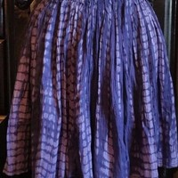 OLD NAVY SIZE MEDIUM 100% COTTON BLUE PURPLE TIE DYE ELASTIC BAND SKIRT