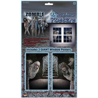 Halloween Decorations: Zombie Window Clings
