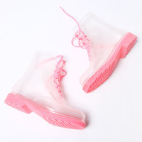 Jelly ice cream summer rain boots shoes