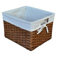 Threshold™ Rattan Small Milk Crate with Liner