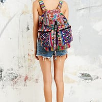 Stela 9 Santiago Patchwork Backpack in Red - Urban Outfitters