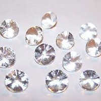 8mm SMALL EDIBLE SUGAR DIAMONDS Wedding Cake Jewelry Decoration Pack of 28