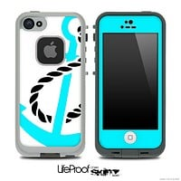 Black Anchor on White Skin for the iPhone 5 or 4/4s LifeProof Case