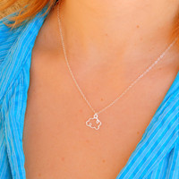 Sterling silver mini cloud charm necklace, sterling silver necklace, long beautiful shinny elegant necklace everyday necklace minimalist 513