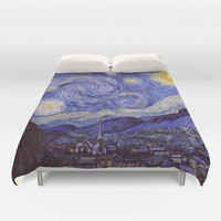 Vincent Van Gogh Starry Night Duvet Cover by Art Gallery