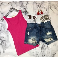 Basic Scoop Tank: Pink