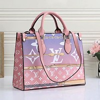 LV Louis Vuitton new product trend color matching printed letters ladies shopping handbag shoulder bag
