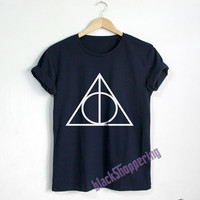 Deathly Hallows shirt Harry Potter t shirt Harry Potter clothing Unisex tshirt tumblr shirts1