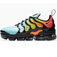 Nike Air Vapormax Plus Triple White Running Sneakers Sport Shoes Mint green + Orange black