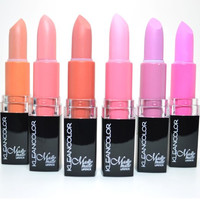 Set of 6 KLEANCOLOR MADLY MATTE LIPSTICK SET BOLD VIVID PINK APRICOT LIP