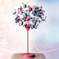 """Table lamp with butterflies """"Fairies & Unicorns"""""""