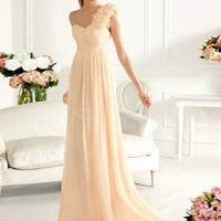 Graceful Sheath/Column One-shoulder Sweep Train Prom Dress from SinoSpecial