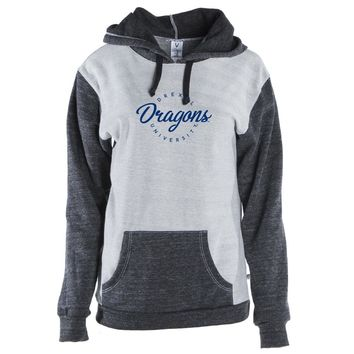 Official NCAA Drexel Dragons Unisex Color Block Kangaroo Pocket Pullover Hoodie
