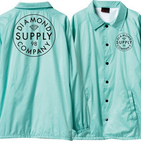 Diamond Stamped Coaches Jacket XL Diamond Blue/White