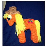Apple Jack Crochet Pony With Removable Hat Inspired by My Little Pony