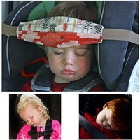 """1.5m/59"""" Baby Car Seat Headrest Sleeping Head Support Pad cover  For Kids travel interior accessories"""