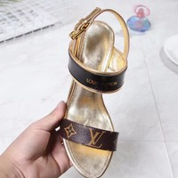 LV Women Fashion Casual Heels Shoes Slipper Shoes