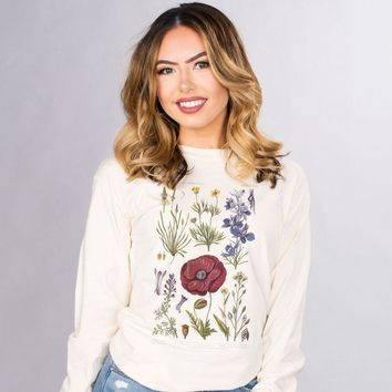 Floral Botanical Chart Long Sleeve