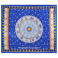 Blue Celestial Zodiac Horoscope Astrology Tapestry Wall Hanging Bedspread on RoyalFurnish.com
