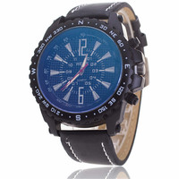 Mens Business Bicycle Sports Watches Army Style Leather Strap Watch+ Beautiful Gift Box