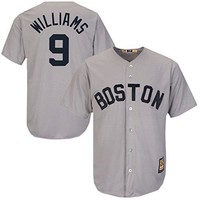 Majestic Ted Williams Red Sox Cool Base Grey Cooperstown Tackle Twill Jersey